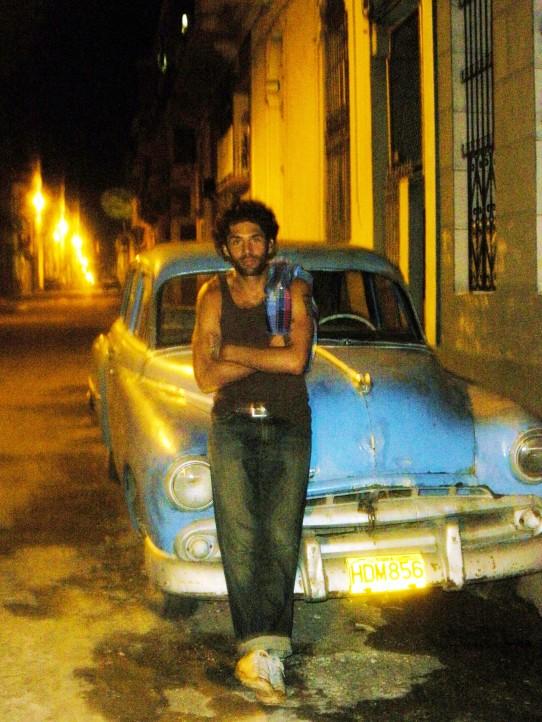 Classic car pose